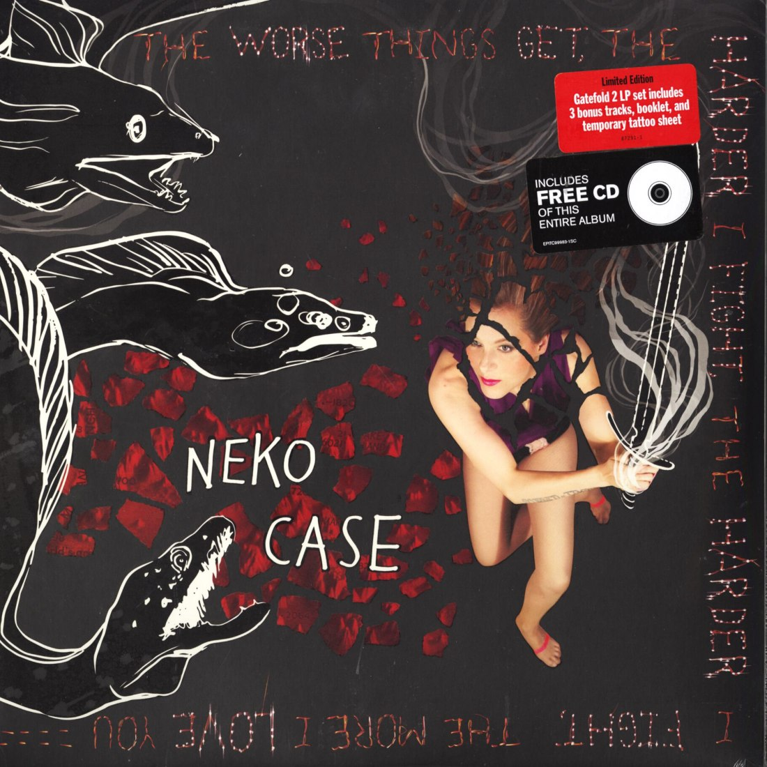 Neko Case - The Worse Things Get... - Deluxe, 2XLP, Vinyl, CD w bonus tracks, Anti, 2013