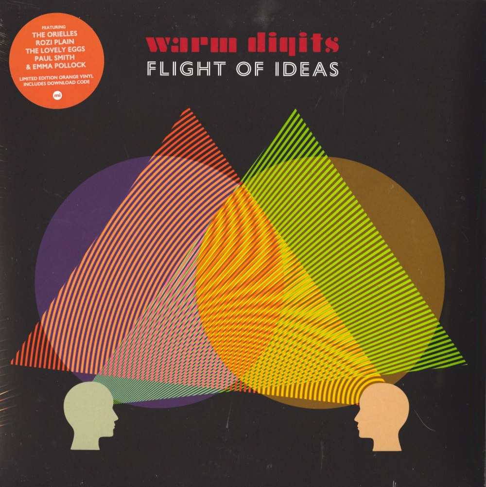 Warm Digits - Flight Of Ideas - Ltd Ed, Orange, Colored Vinyl, LP, Memphis Industries, 2020
