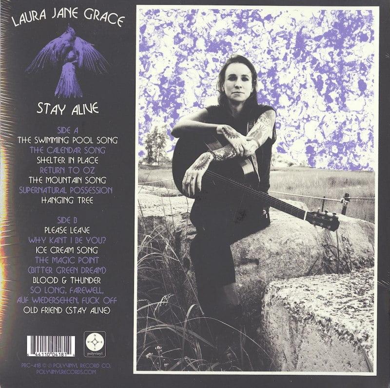 Laura Jane Grace - Stay Alive - Limited Edition, Lapis Lazuli Blue, Colored Vinyl, Polyvinyl Records, 2020