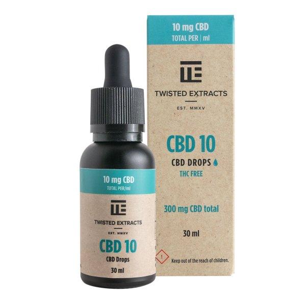 Twisted Extracts - CBD 10 Oil Drops (300mg CBD)