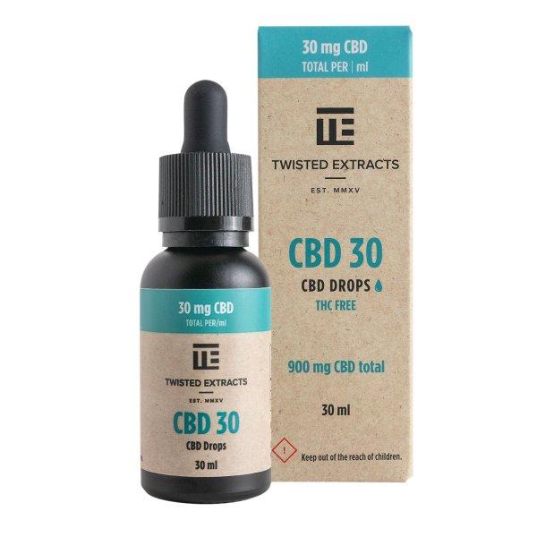 Twisted Extracts - CBD 30 Oil Drops (900mg CBD)