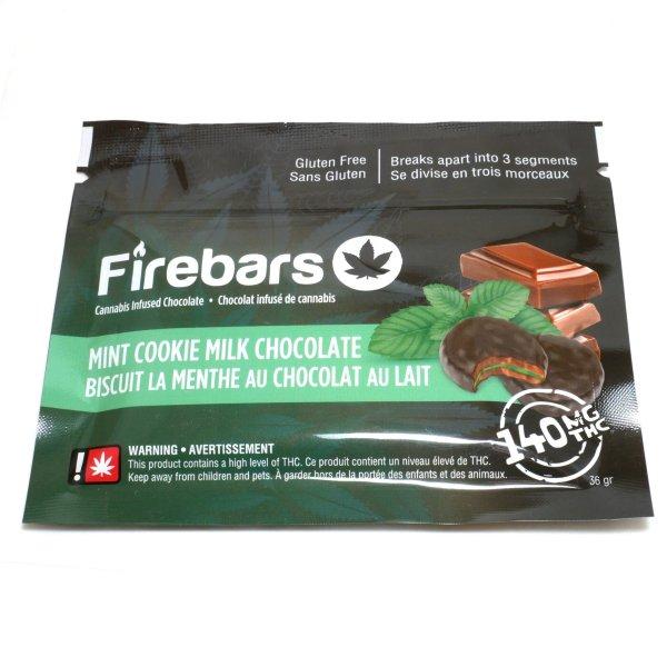 Fire Bars- Mint Cookie Milk Chocolate (140 MG THC)