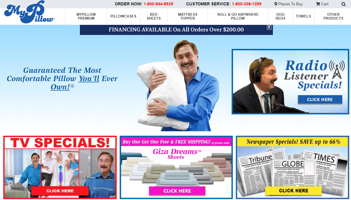 my pillow buy now pay later stores