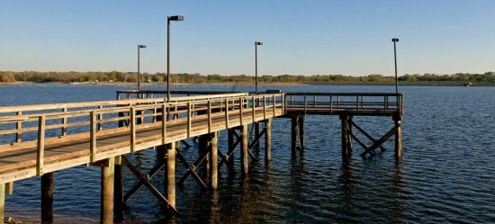 Purtis Creek State Park Fishing Pier. Image via Texas State Parks