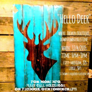 deer painting class