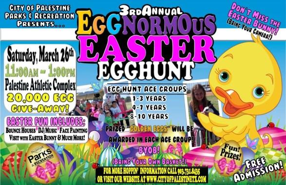Egg-Normous Easter Egg Hunt, 2016 Palestine TX
