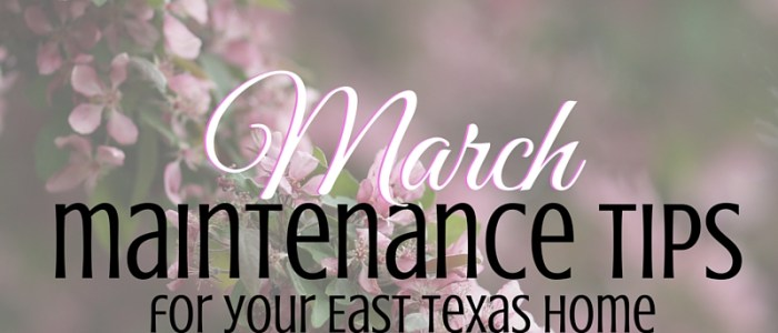 March Home Maintenance Tips for Your East Texas House