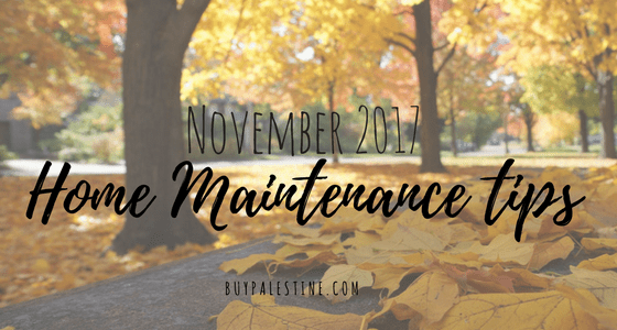 November 2017 Home Maintenance Tips
