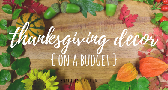 Thanksgiving Décor on a Budget