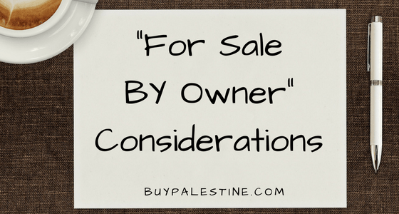 """For Sale by Owner"" Considerations"