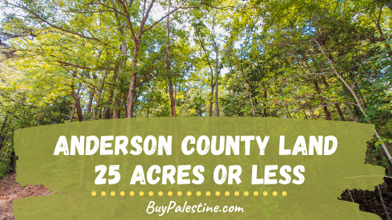 Anderson county land for sale under 25 acres