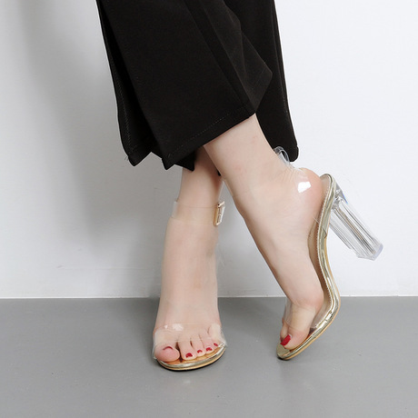 Transparent Block Heel
