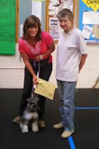Dog Cathy Camarda and Ruby cropped