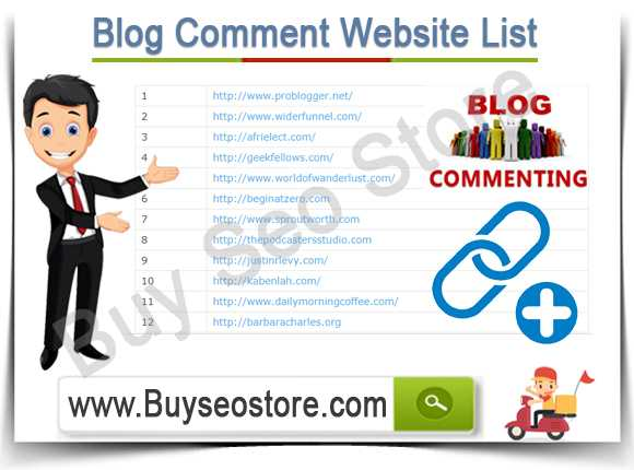 Buy Blog Comment Website List