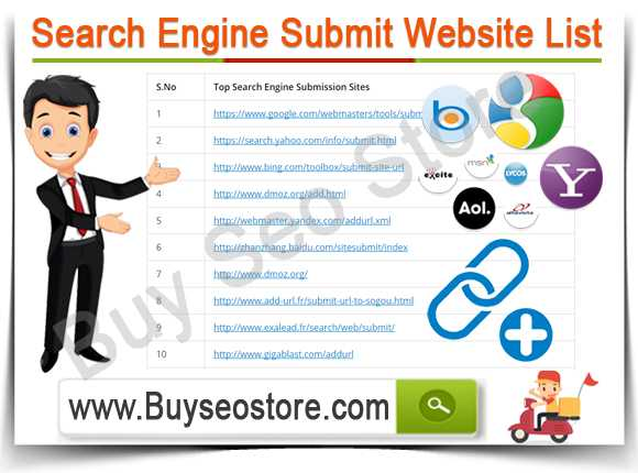 Buy Search Engine Submit Website List