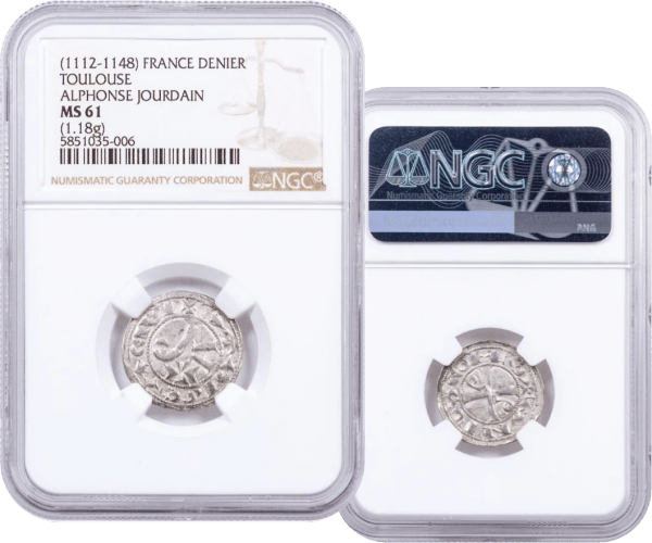 buy-1112-1148-FRANCE-TOULOUSE-ALPHONSE-JOURDAIN-SILVER-DENIER-NGC-MS61