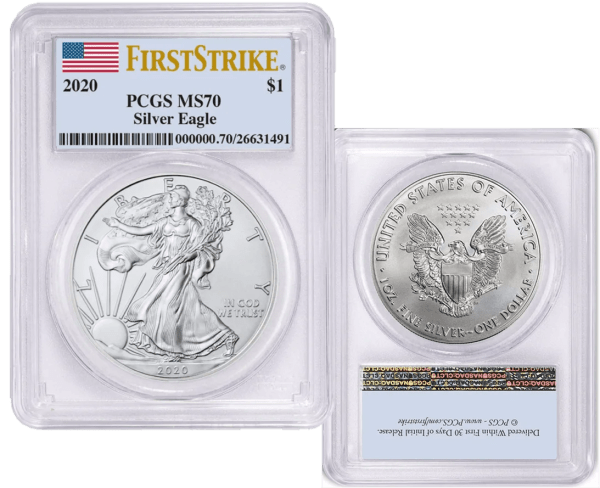 Buy 2020 s american silver eagle ms 70 first strike
