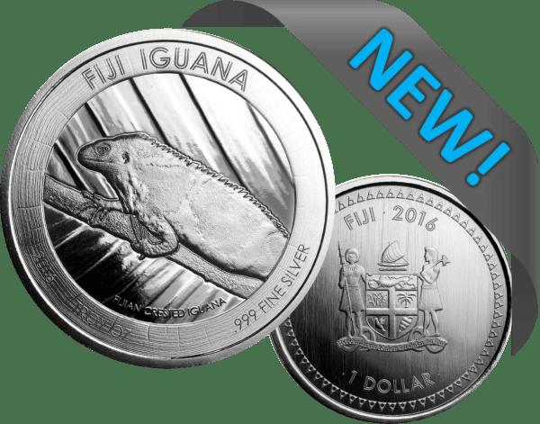 Buy 2016 FIJI IGUANA 1OZ SILVER GEM BU COIN