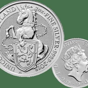Buy 2018 great britain 2 oz silver queen's beasts unicorn of scotland
