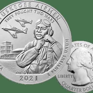 Buy 5OZ SILVER 2021 TUSKEGEE AIRMEN NATIONAL HISTORIC SITE ATB COIN
