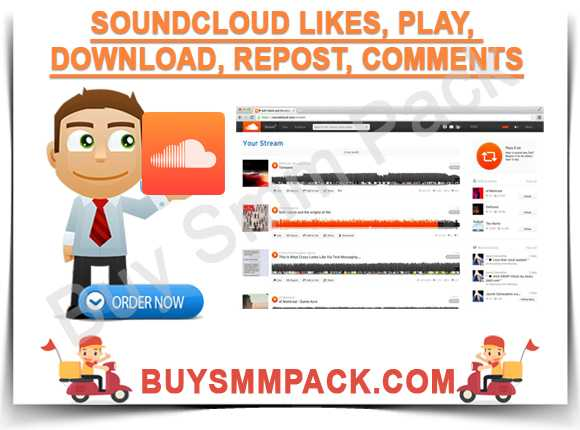 Soundcloud Likes, play, Download, Repost, comments