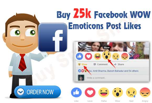 Buy Facebook WoW Emoticons Post Likes