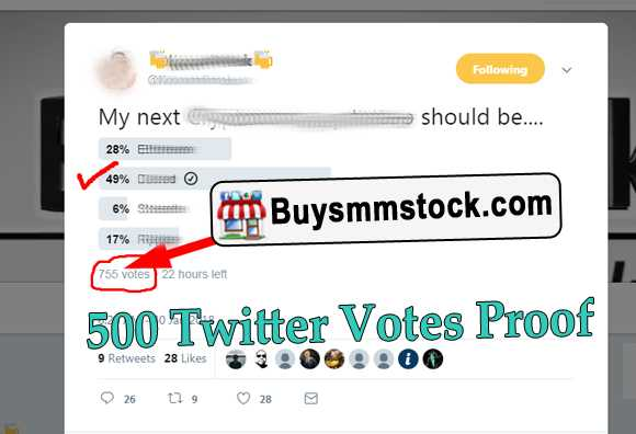 500 Twitter Vote Proof