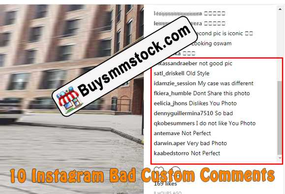 10 Instagram Bad Custom Comments