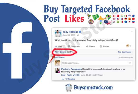 Targeted Facebook Post Likes
