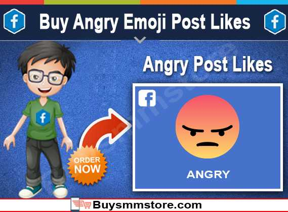 Buy Angry Emoji Post Likes