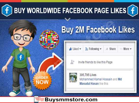 Buy Worldwide Facebook Likes