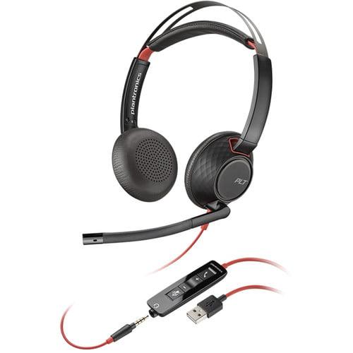 Blackwire 5220, Blackwire 5200, Blackwire C5220, corded headset, plantronics wired headset, wired headset, C5200, Plantronics C5200, Blackwire C5200, C5220, Plantronics Blackwire C5200