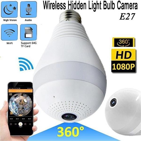 Online Shopping site in kenya, online shop in kenya, Generic Nanny Camera , Panoramic 1080P 360 Degree Night Vision , Wifi Light Bulb Camera