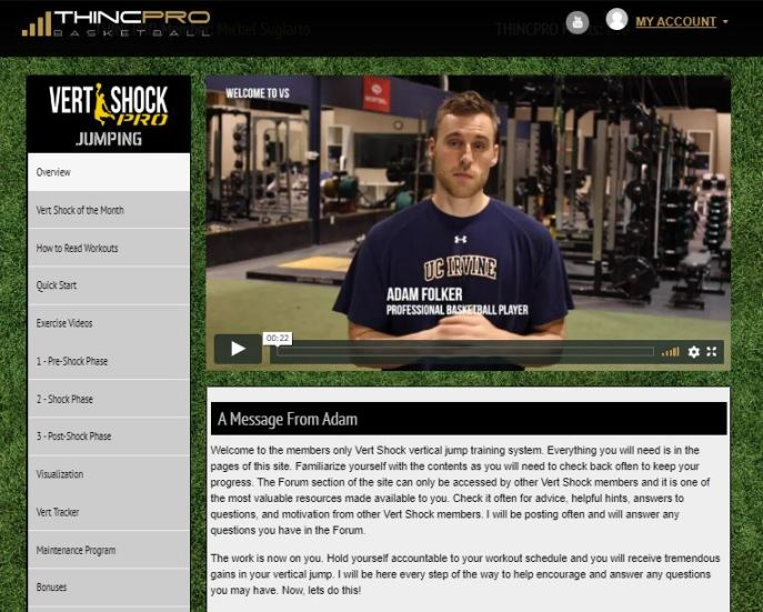 vert shock home page