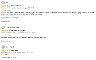good reviews for Lifeboost Coffee