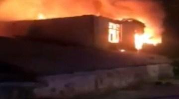 Arnavutköy'de tavuk çiftliğindeki yangın büyük çapta hasara neden oldu