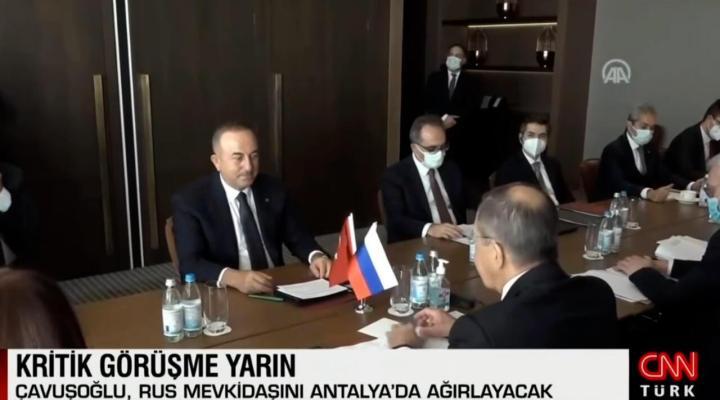 Dışişleri Bakanı Mevlüt Çavuşoğlu, Rus mevkidaşı Lavrov ile görüşme gerçekleştirecek