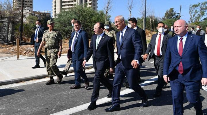 Ticaret Bakanı Muş'tan, 46 yılın ardından bir bölümü açılan Kapalı Maraş'a ziyaret