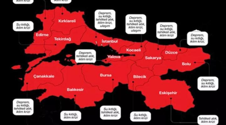 Marmara'nın risk haritası çıkarıldı! Durum vahim: İstanbul Kocaeli Sakarya Çanakkale…
