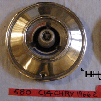 This view shows the center emblem of hubcap # c14chry1966_2