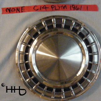 front view of hubcap # c14plym1961_1