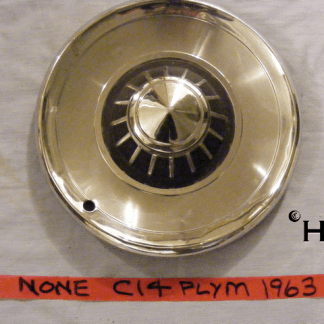 front view of hubcap # c14plym1963_1