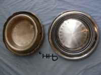 back and front view of hubcap # c15chry1969_4