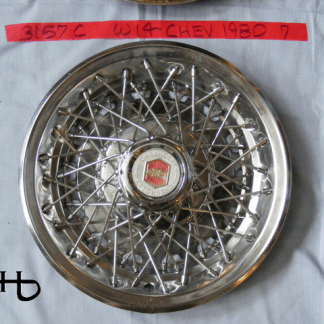 front view of hubcap # w14chev1980_7