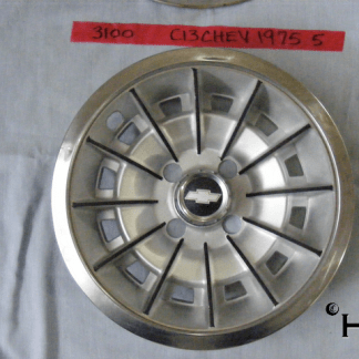 Front view of hubcap # c13chev1975_5