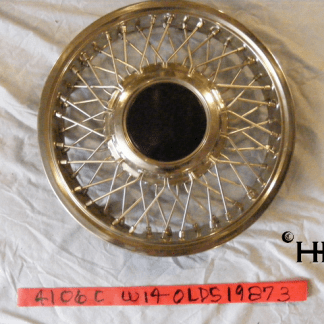 front view of hubcap # w14olds1987_3