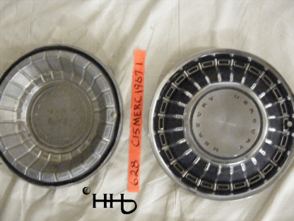 back and front view of hubcap # c15merc1967_1