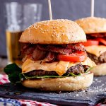 Classic Cheeseburger Recipe on Brioche with Lettuce Tomato