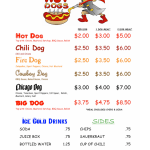 Hot Dog : Hot Dog Cart Menu Ideas