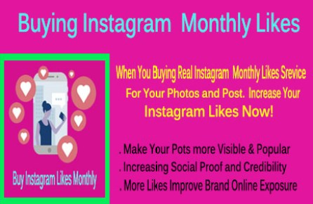 Buy Instagram Monthly Likes Packages